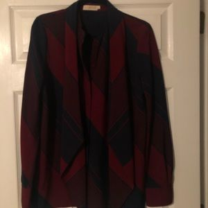 Tory burch blouse with matching detachable scarf